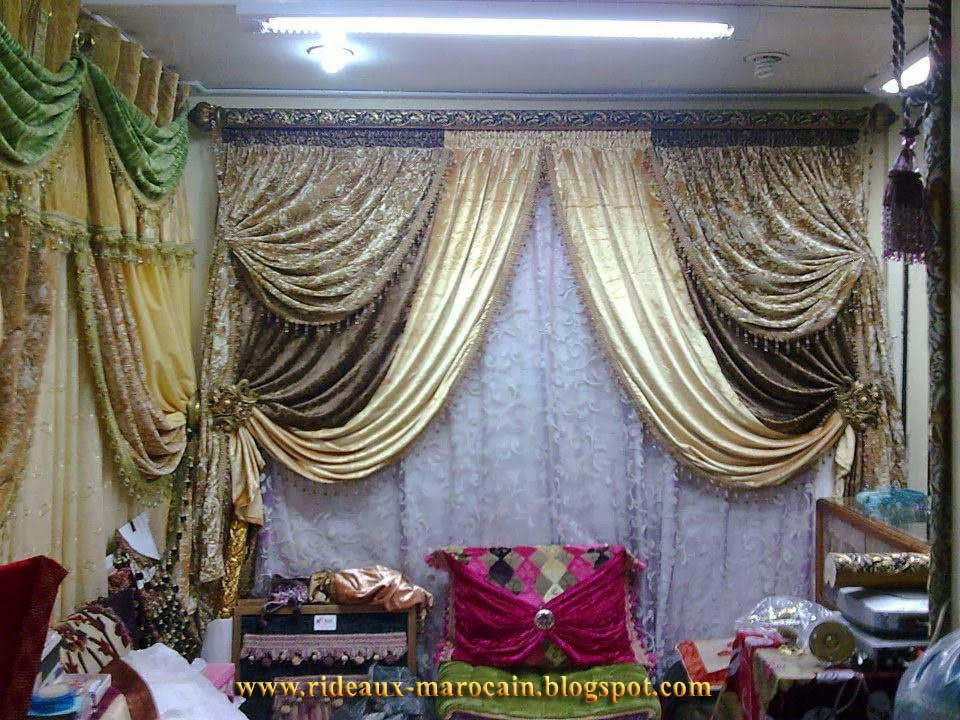rideaux marocain atelier de tapissier marocain rideaux occultants. Black Bedroom Furniture Sets. Home Design Ideas