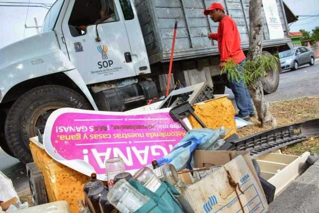 Recopila SSY más de 633 toneladas de potenciales criaderos de moscos