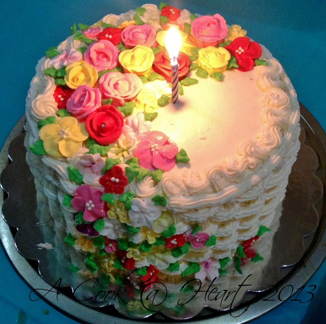 A Cook @ Heart: A Basket (cake) Of Flowers