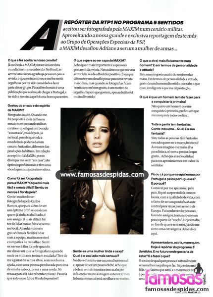 Fotos de Adriane Garcia nua na Maxim Portugal