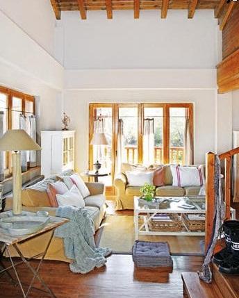 Cocinas y salones con estilo rustico moderno - Salones rusticos modernos ...