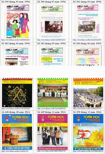 Tạp chí Toán học Tuổi trẻ 1994 đến 2014