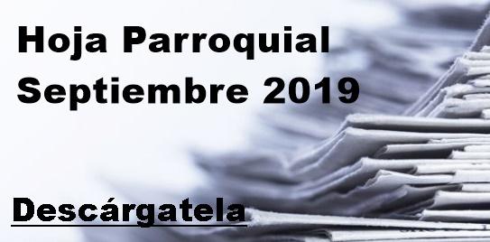 Hoja Parroquial Septiembre 2019