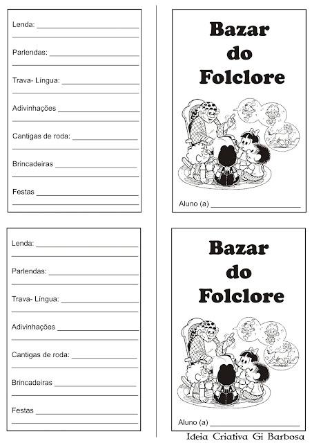 Livrinho  Bazar do Folclore  para Imprimir