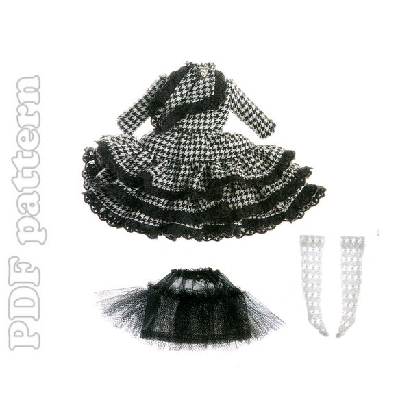 Dress with flounced pattern 1