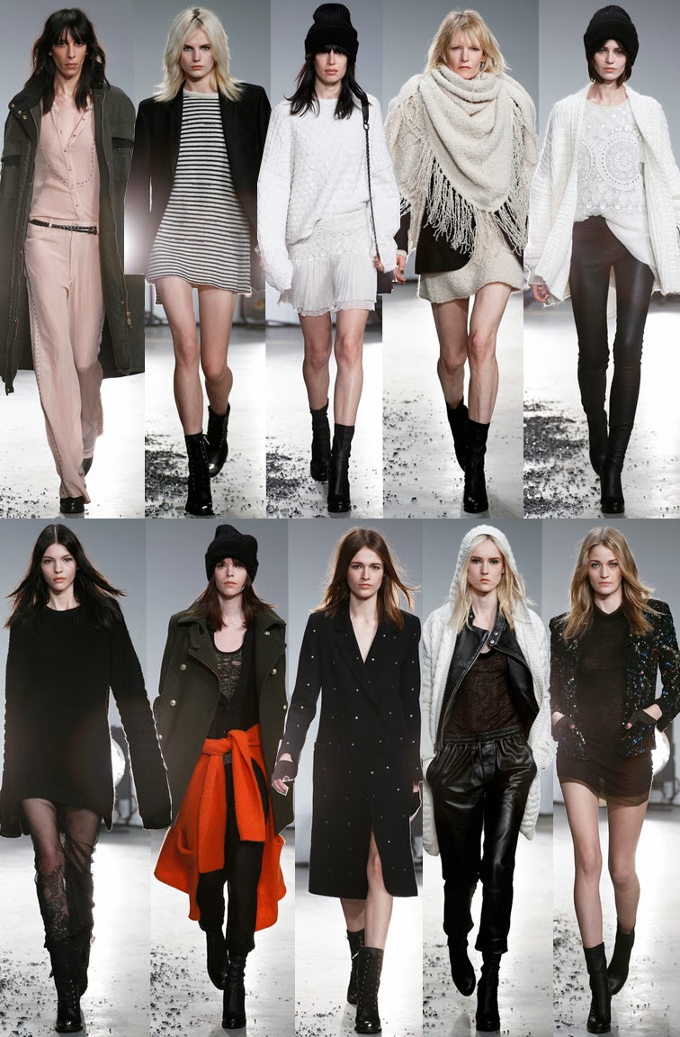 Zadig & Voltaire fall winter 2014 runway collection, PFW, Paris fashion week, FW14, AW14