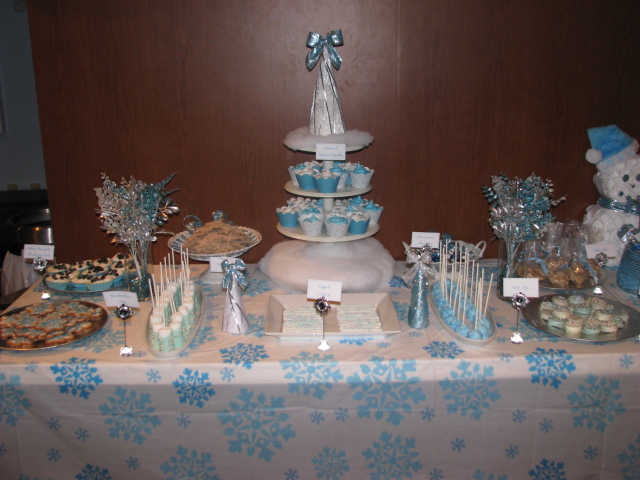 S amore cake winter wonderland baby shower