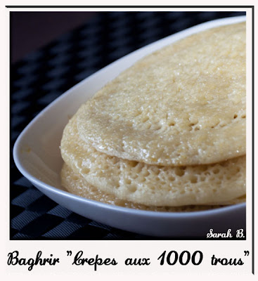 recette baghrir crêpes marocaine