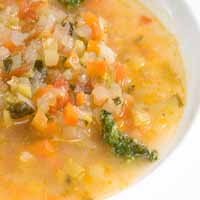 Weight Loss Recipes : Italian Soup With Pesto