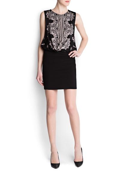 nakış desenl, siyah gece elbisesi