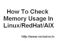 Check Linux Memory Usage