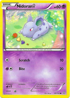 Nidoran Primal Clash Pokemon Card