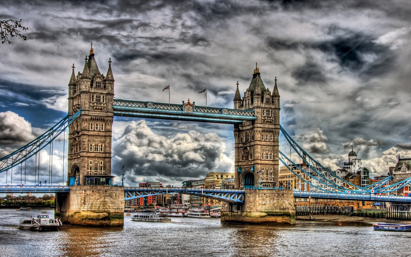 Puente de la torre - Tower Bridge HDR (1920x1200px)