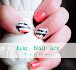 http://onceuponnails.blogspot.com/2014/10/ikat-tutorial.html
