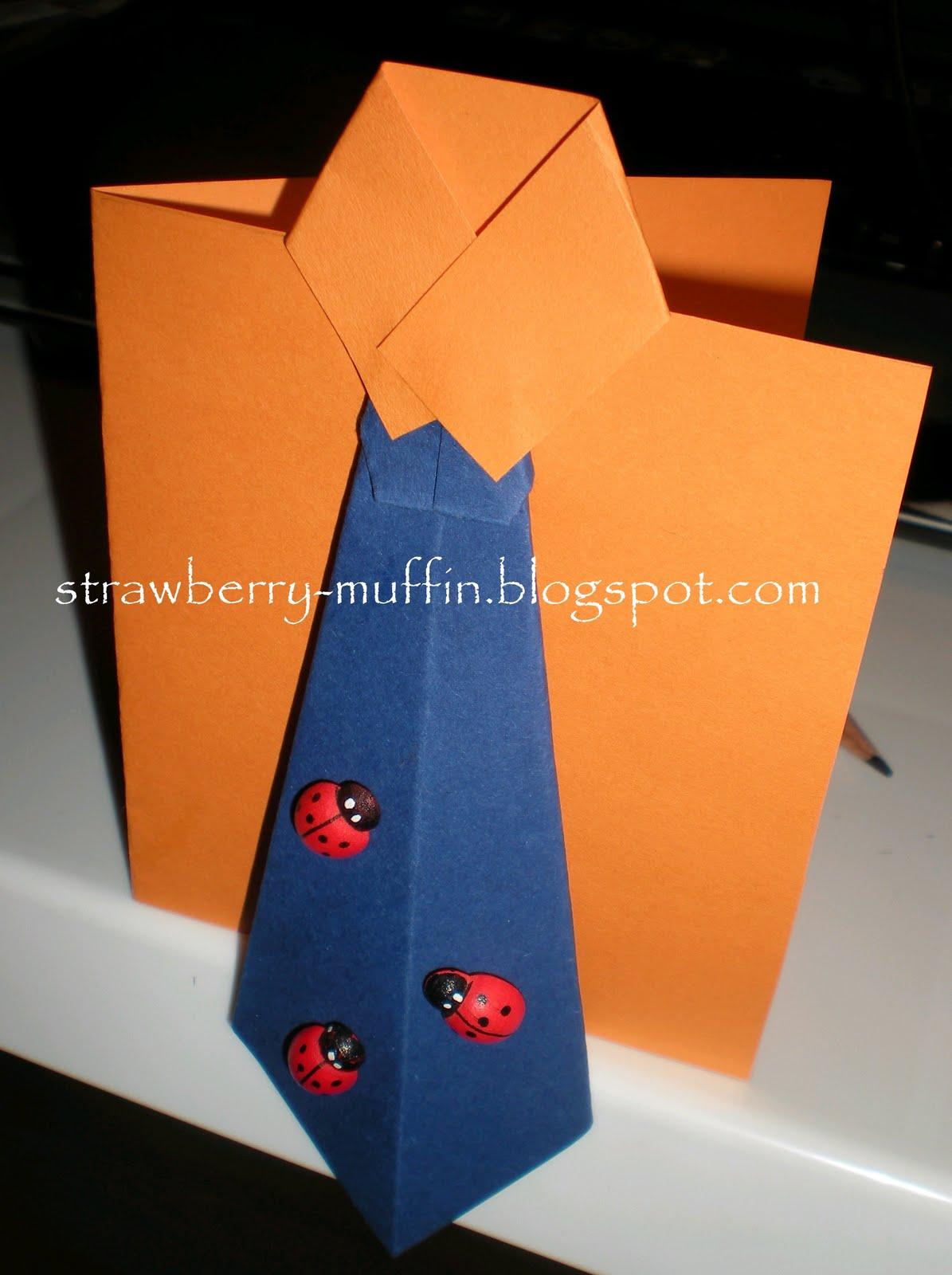 krawatte zum vatertag basteln