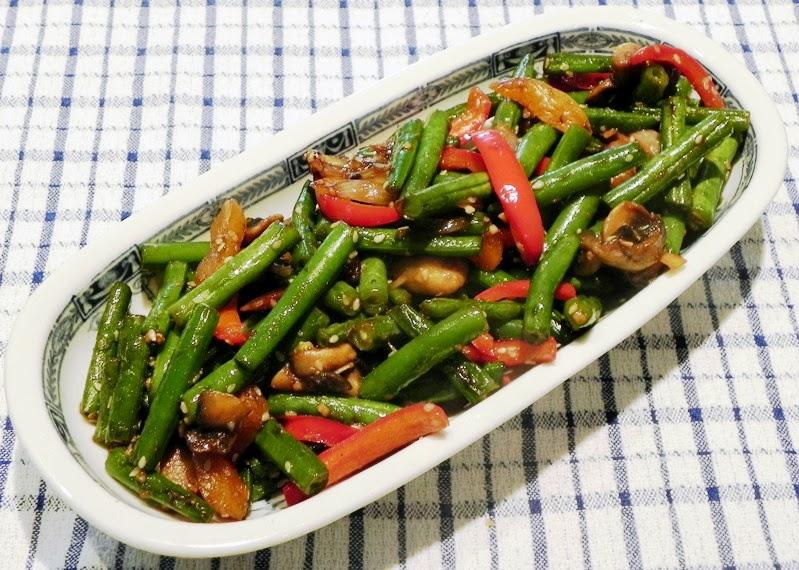 The Iowa Housewife: Stir Fry Sesame Green Beans