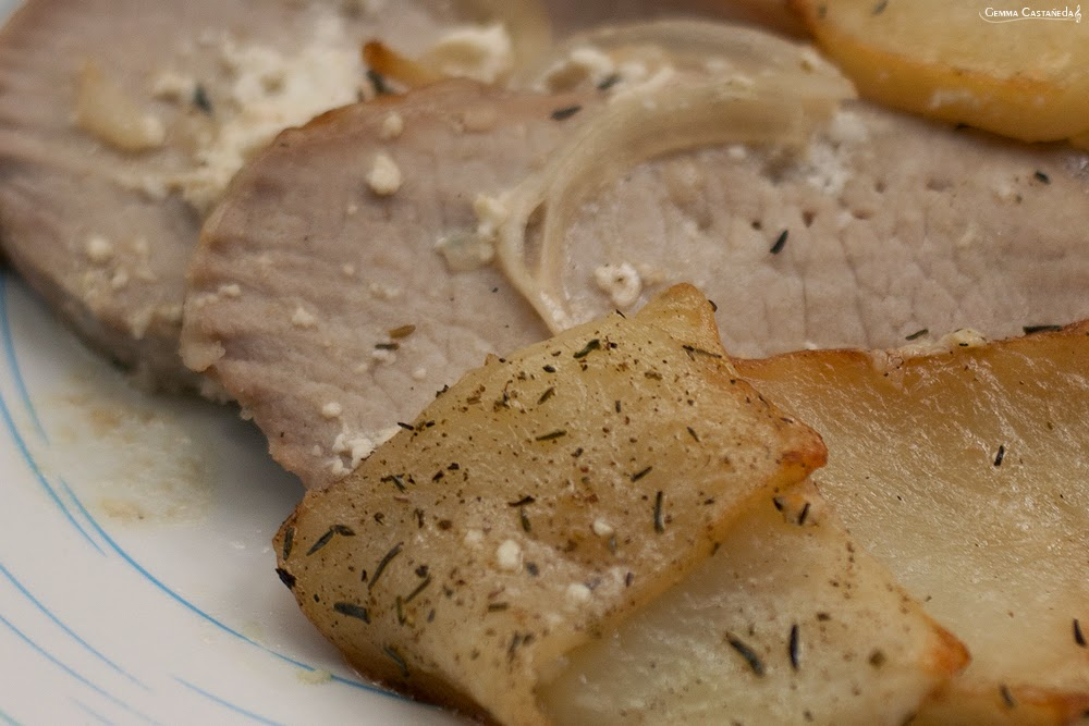 lomo horno patatas