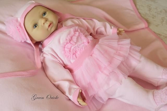 Комплект для девочки на выписку, с одеялом