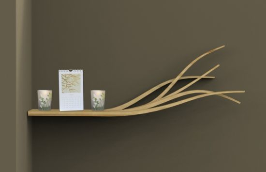 Branch Shelf : Cool tree branch inspired shelf, hand painted and made ...
