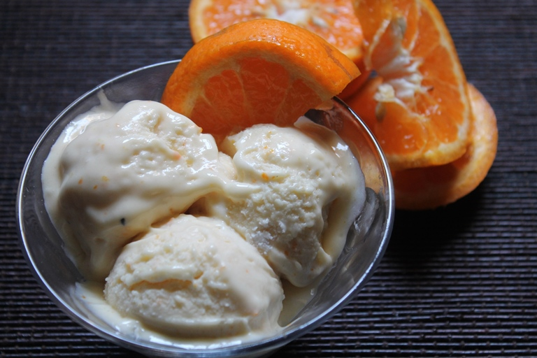 No Churn Orange & Lemon Icecream Recipe
