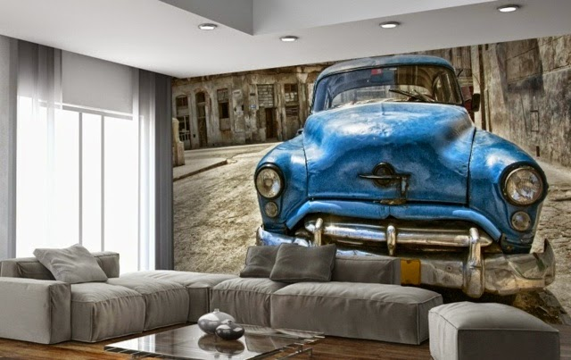 Wall Decoration Ideas With Photo Wallpaper Cars
