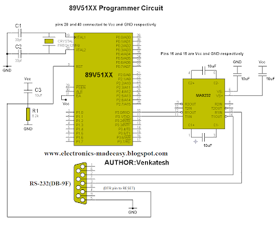 Venkatesh'S Electronics Made Easy: 89V51Xx Programmer Using Serial
