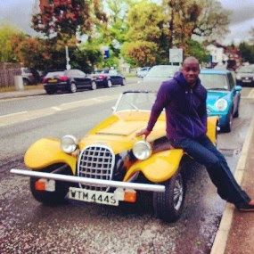 Photo: Chris Attoh Poses With His Fancy Classic Car