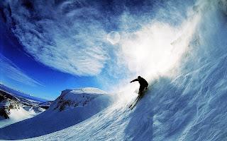 Fondo esquiador