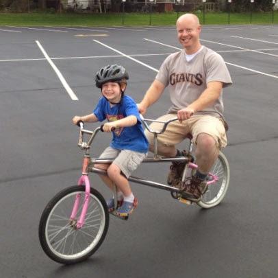 homebuilt tandem bike