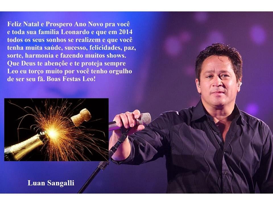 mensagens de natal e ano novo para o Leonardo e família 2013