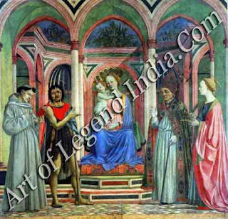 Florentine masterpiece, Although a Venetian, most of the works by Domenico Veneziano were for Florentine patrons. His masterpiece is The St Lucy Altarpiece which was painted in about 1445.