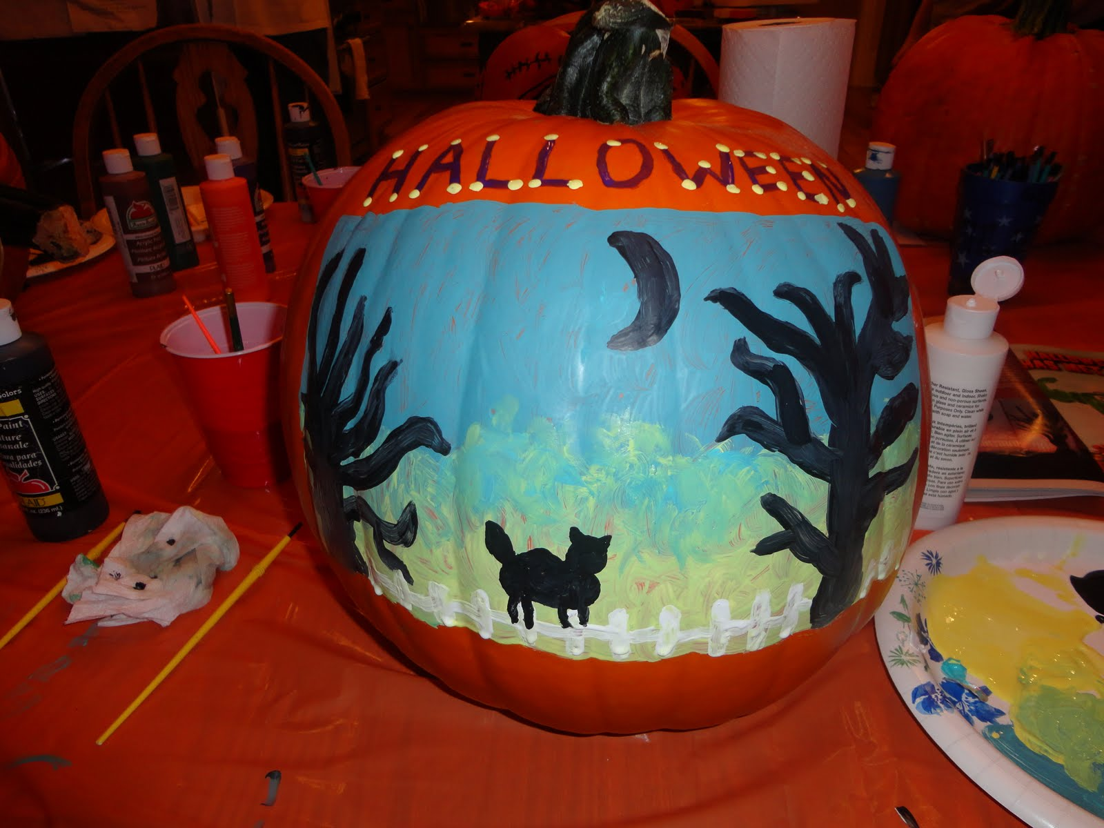 Halloween Scenes to Paint my Halloween Scene Creation