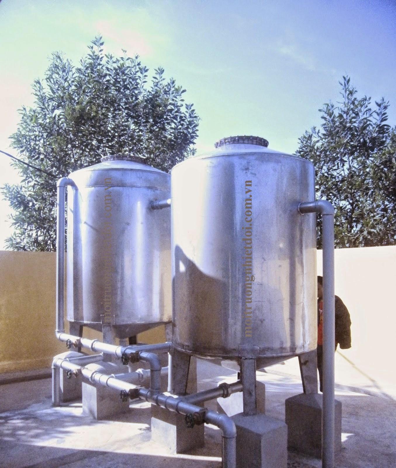 Bình lọc áp lực lọc nước giếng khoan