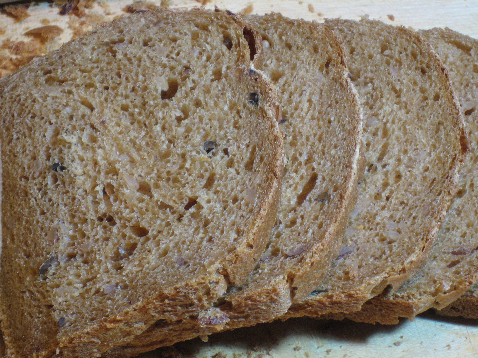 For the loaf of bread: Wild Rice - Molasses Bread