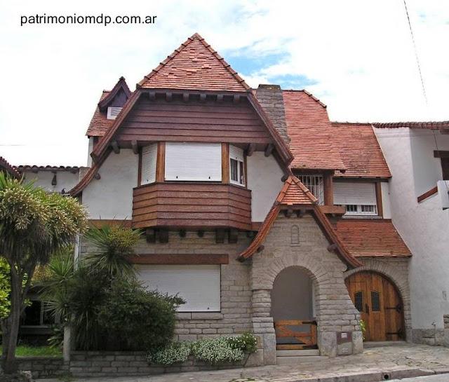 Casa tipo chalet estilo propio del Pintoresquismo