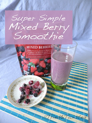 Super Simple Mixed Berry Smoothie | Tried & Twisted