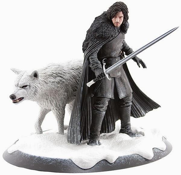 estatua de Jon Nieve y Fantasma