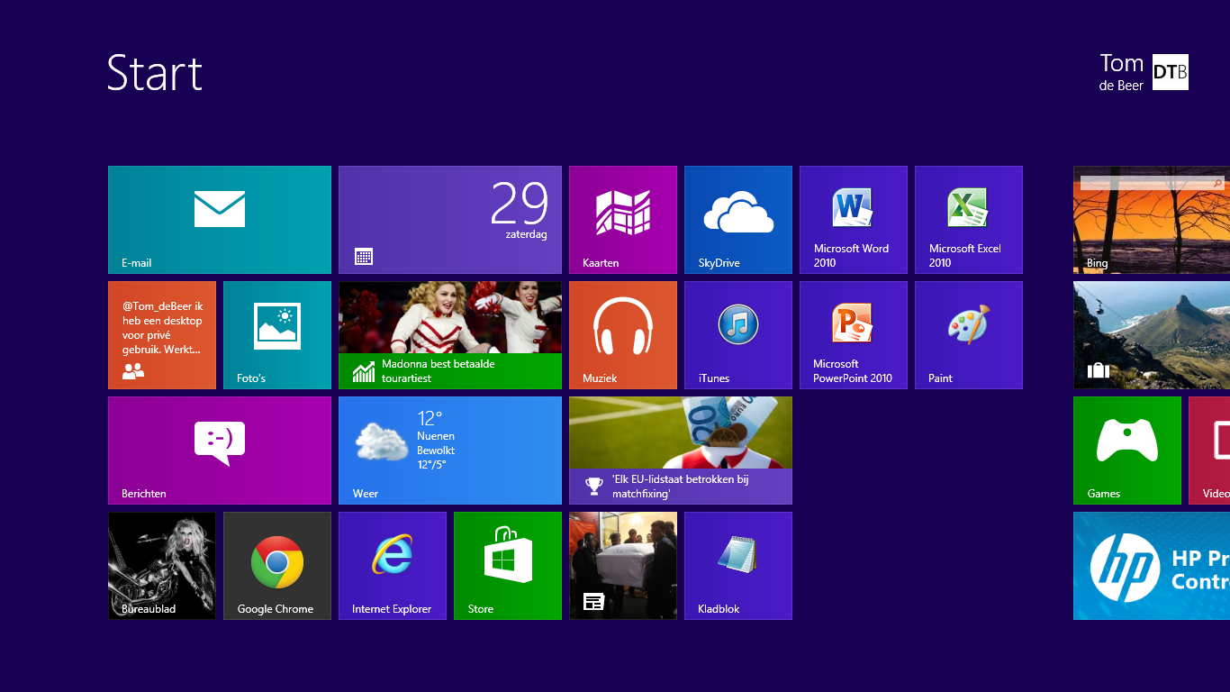Windows 8 de basis for Windows 8 bureaublad