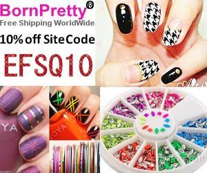Воспользуйтесь кодом EFSQ10, чтобы получить скидку 10% в магазине Born Pretty :)