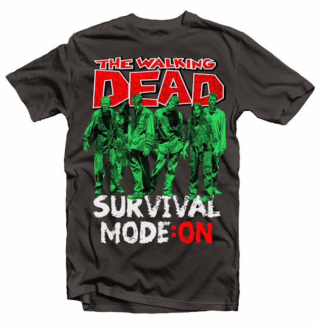 walking dead tshirt design