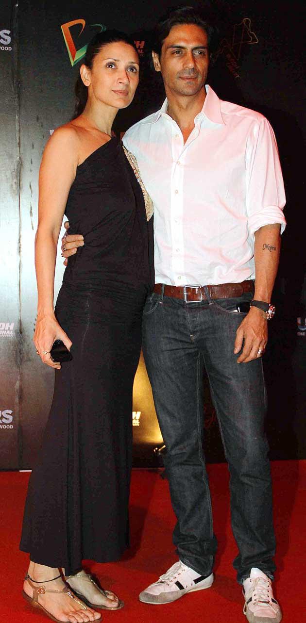 Arjun Rampal Daughters 2013 Arjun rampal with wife mehr