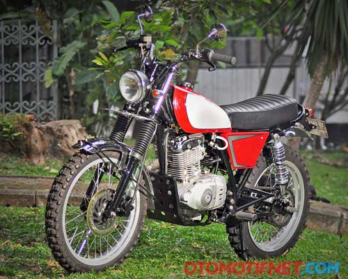 Modifikasi Suzuki Thunder 125, Retro Scrambler