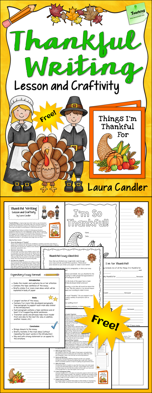 Thanksgiving English Teaching Resources and Lesson Plans For Fall     Pinterest