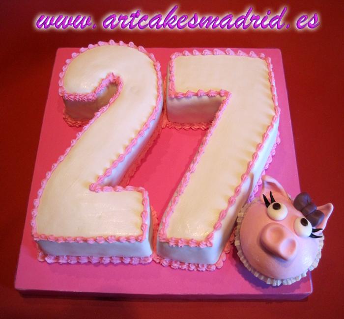 Tartas de cumpleaños con números