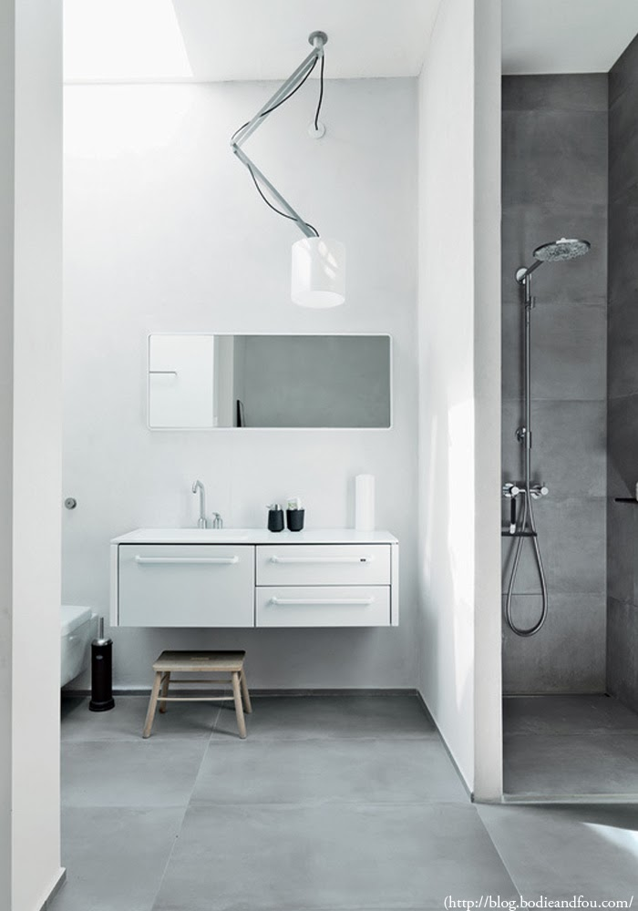 Beau Personally, I Think What Makes This Bathroom So Beautiful Is The Natural  Light Flowing From The Sky Window And The Contrast Of Material: Polished  Concrete ...