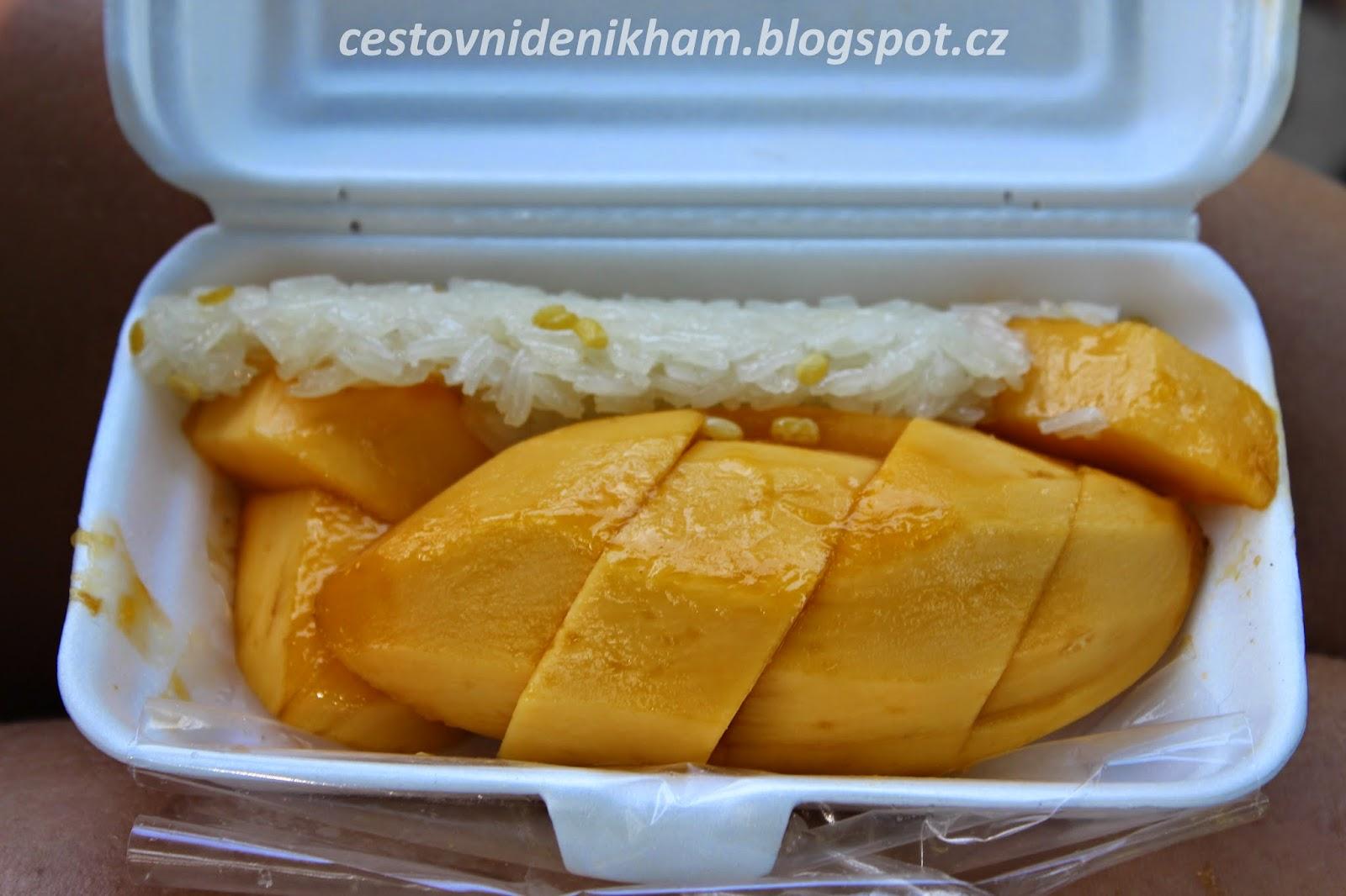 mango se sladkou rýží // mango sticky rice