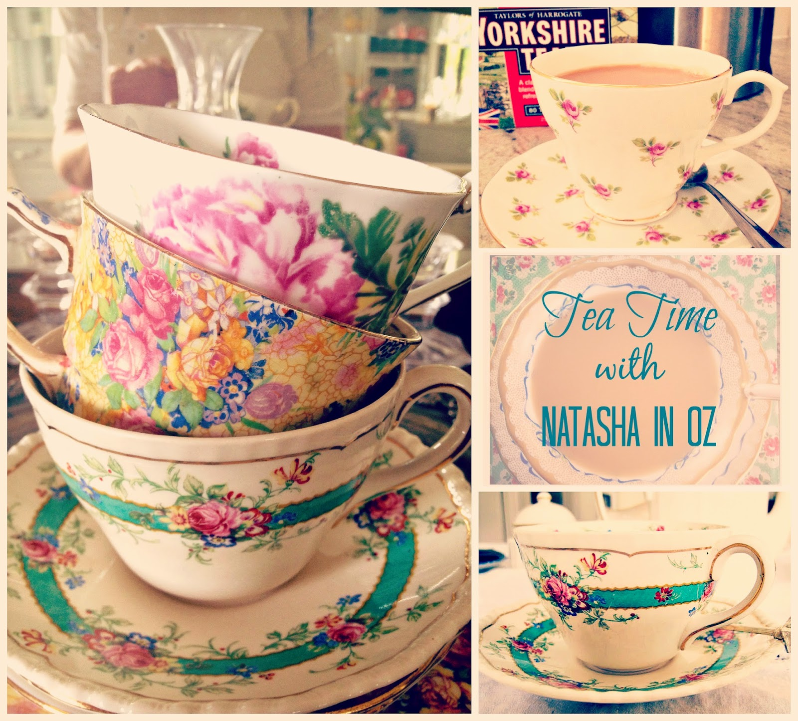 Tea, Tea cup candles, Tea Time Tuesday, Tea Time with Natasha in Oz, Vintage tea cups, Tea,