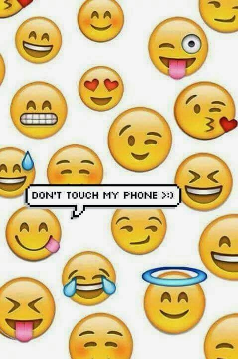 don 39 t touch my phone we heart it background and emoji