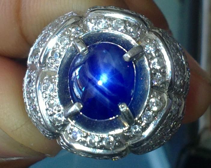 batu permata blue safir birma bintang hitam vs golden