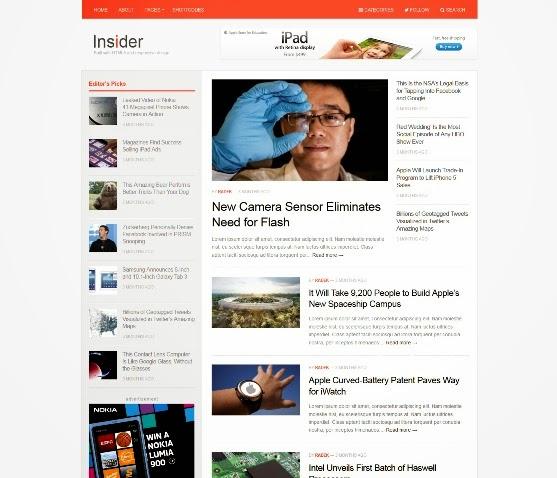 Insider Magazine Theme